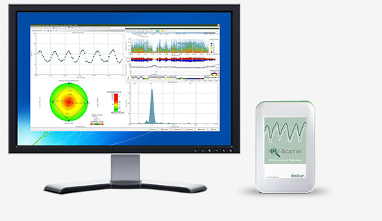 BioSign HRV-Scanner measurement and analysis of heart rate variability